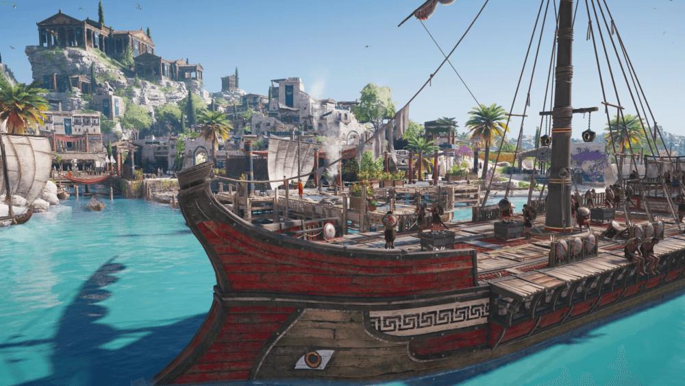 Assassins Creedy Odyssey schip