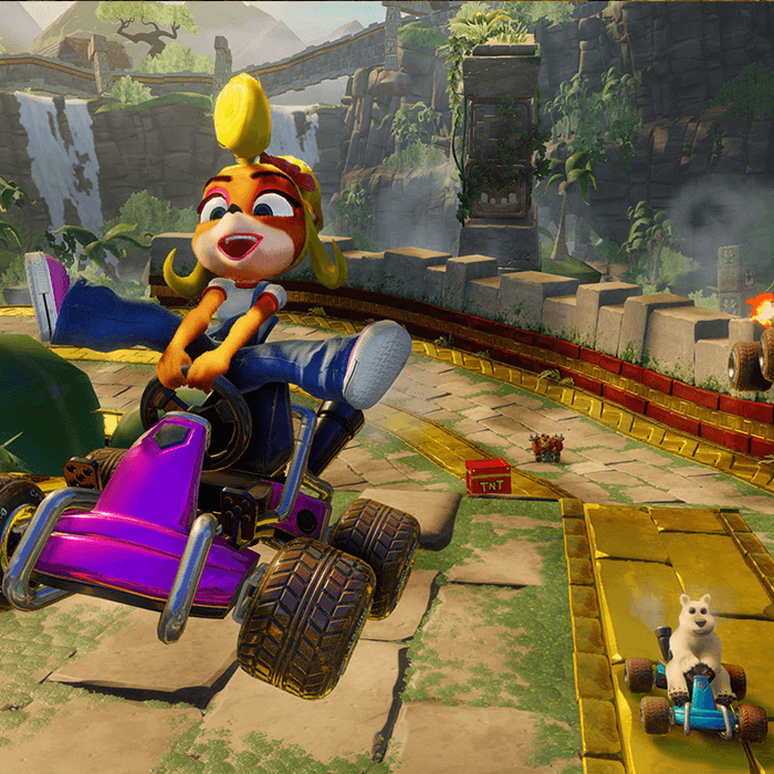 crash bandicoot coco racing