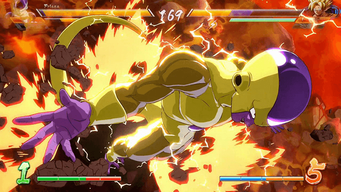 Dragon Ball Fighter Z geweldige gevechtsscenes frieza
