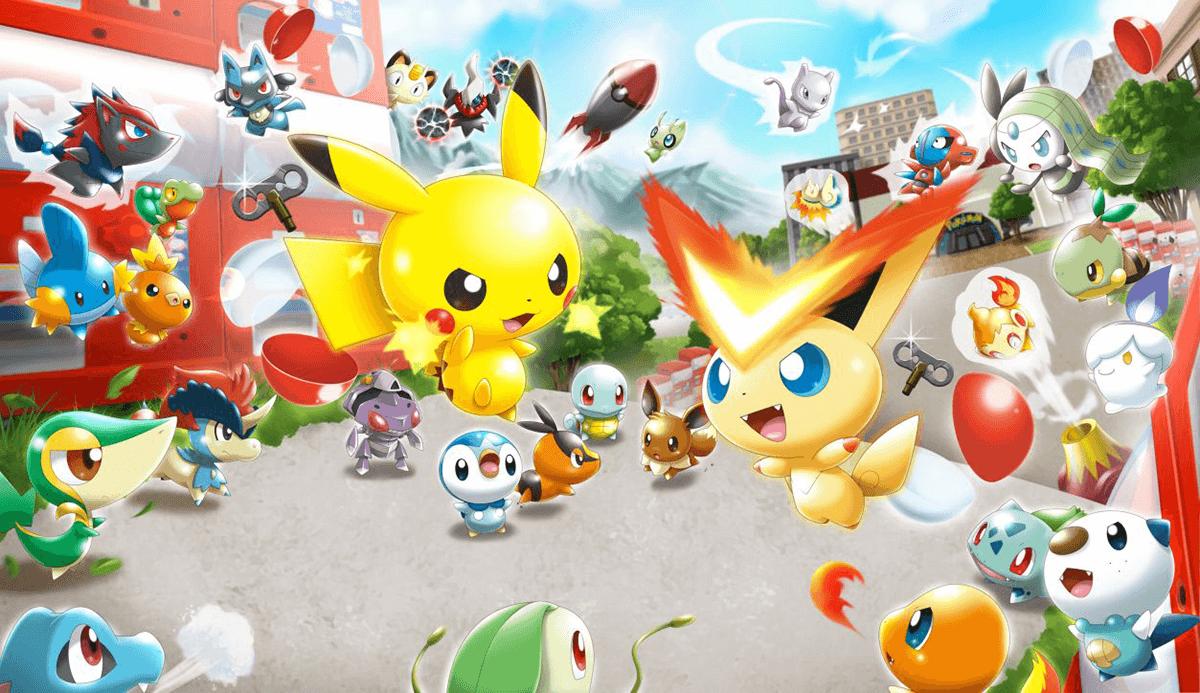 Pokemon Rumble Rush key visuals