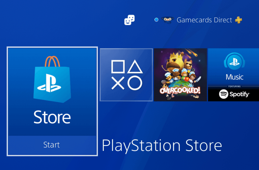 Playstation store screen