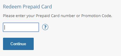 PSN redeem prepaid card screen