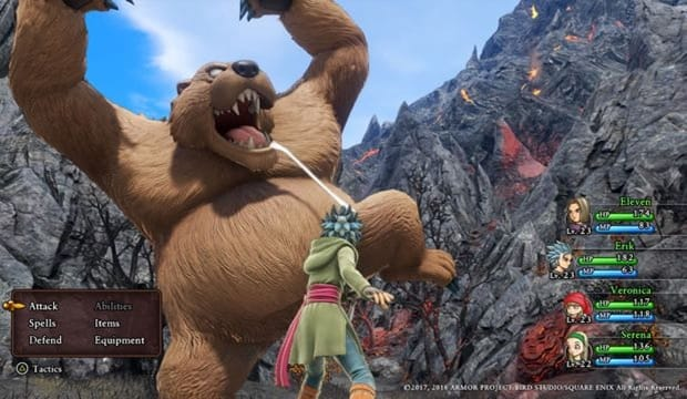 Dragon Quest XI JRPG fight