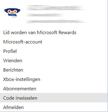 Xbox code inwisselen op computer