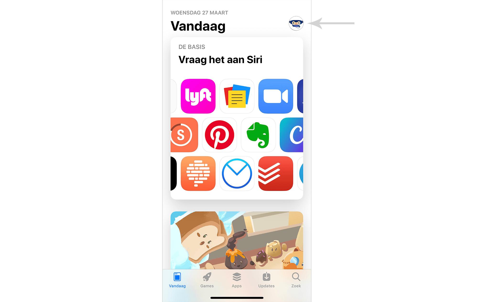 IOS app store start pagina