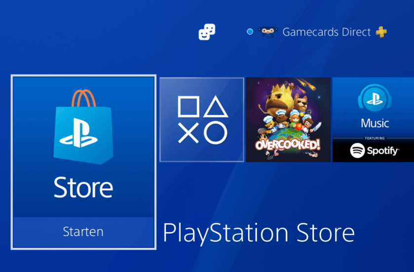 Playstation Store knop
