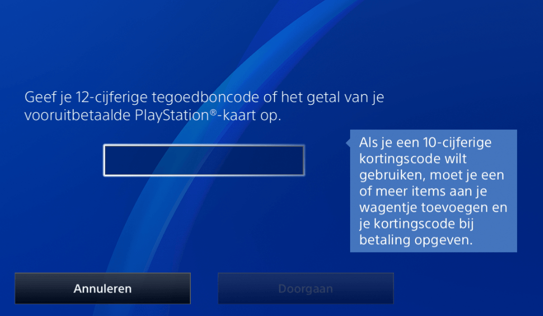 PSN plus code invullen