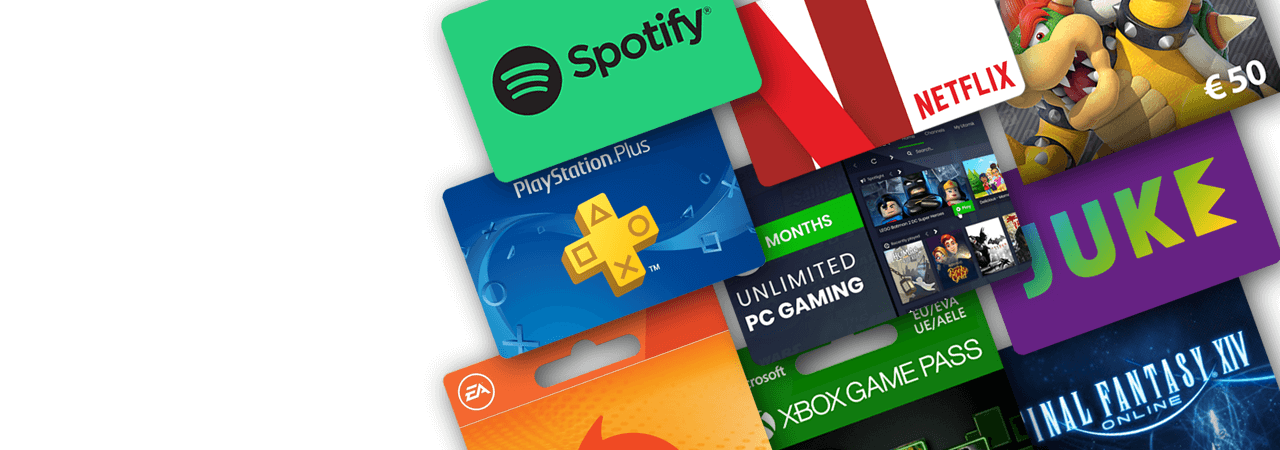 Game, TV and music subscriptions