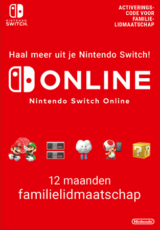 nintendo switch online 12 maanden family