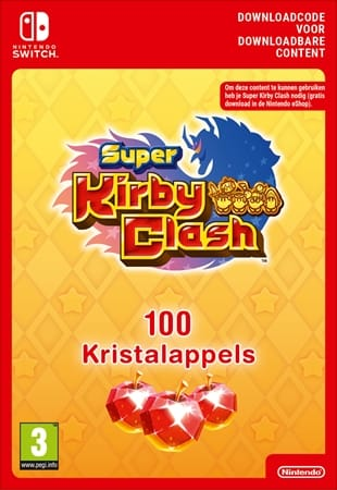 Super Kirby Clash 100 Kristalappels