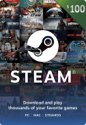 Steam Gift Card $100 US