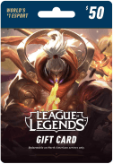 League of Legends Card $50
