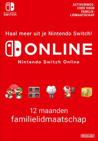 Nintendo Switch Online 12 maanden Familie