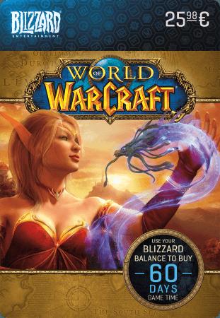 Prepaid kaart voor 60 dagen World of Warcraft-speeltijd